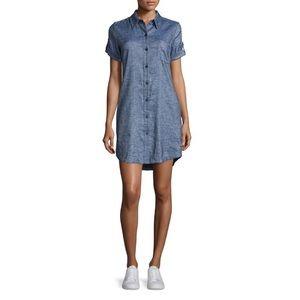 Theory Denim Button Up Dress